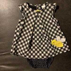 Baby girl bumblebee onesie dress 🐝